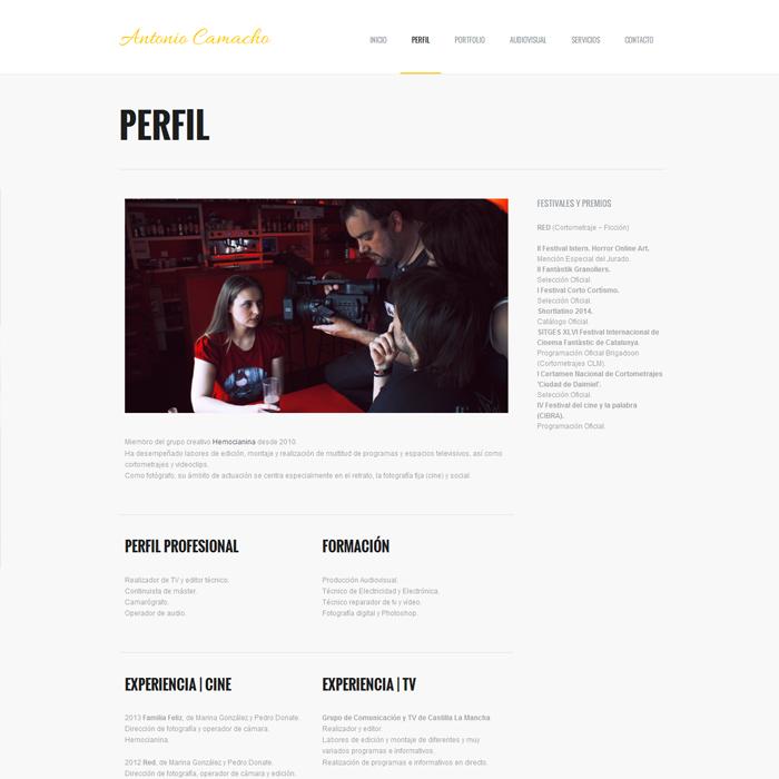 Antonio Camacho ~ Website