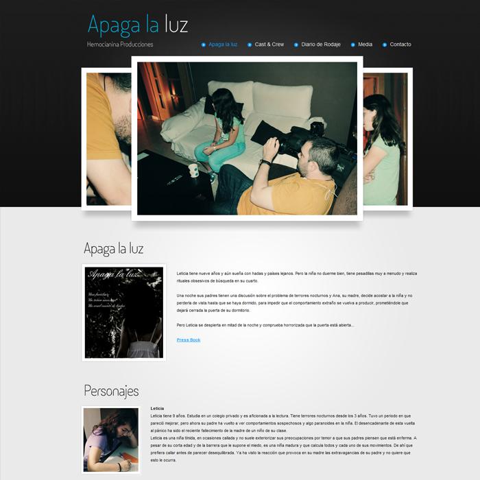 Apaga la luz (Hemocianina) ~ Website
