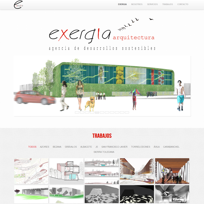 Exergia Arquitectura ~ Website