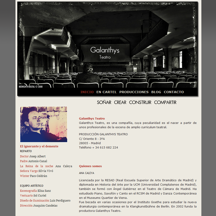 Galanthys Teatro ~ Website