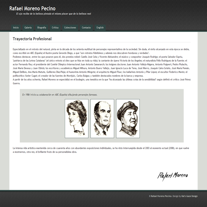 Moreno Pecino ~ Website